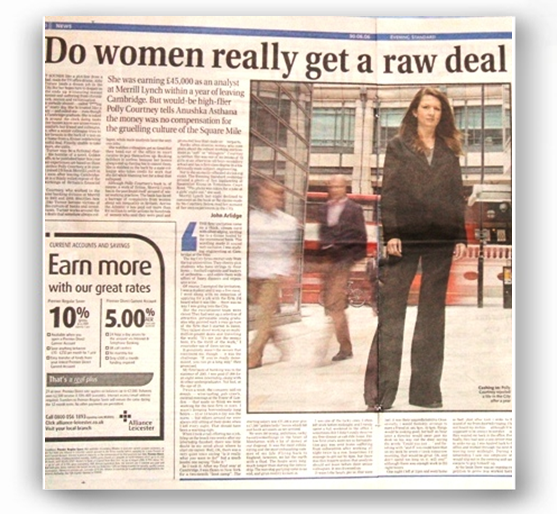 Evening Standard - Do women really get a raw deal