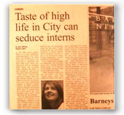 FT - Taste of high life in City can seduce interns