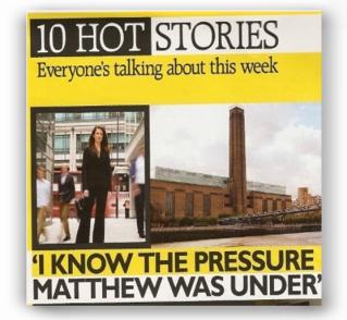 Grazia - I know the pressure Matthew was under