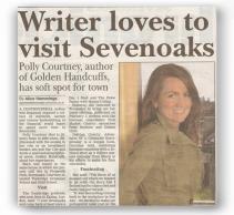 Sevenoaks Chronicle - Writer loves to visit Sevenoaks