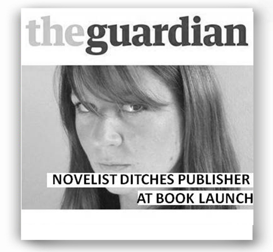 Guardian - Novelist ditches publisher at book launch - http://www.theguardian.com/books/2011/sep/15/novelist-ditches-publisher-book-launch