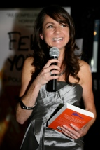 Polly Courtney at the launch of Feral Youth
